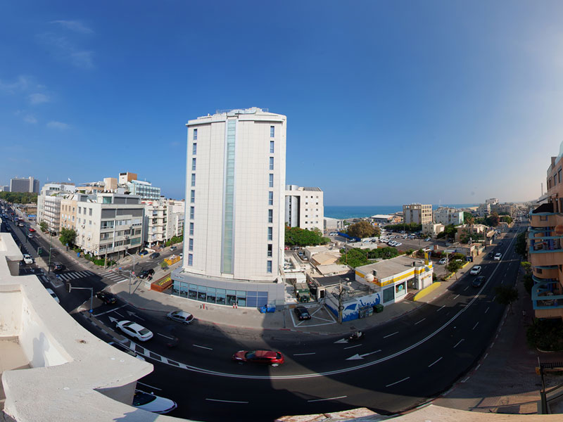 צילום פנורמי של הנוף מהמלון
